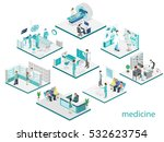 isometric flat interior of... | Shutterstock .eps vector #532623754