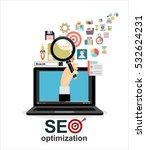 flat illustration web analytics ...   Shutterstock .eps vector #532624231