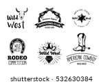 wild west. set of vintage rodeo ... | Shutterstock .eps vector #532630384