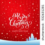 christmas greeting card. merry... | Shutterstock .eps vector #532631281