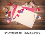 a vintage scrapbooking themed... | Shutterstock . vector #532632499