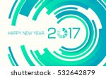 happy new year 2017 with...   Shutterstock .eps vector #532642879