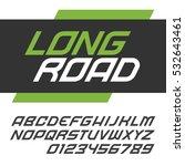 modern fast alphabet lettering. ... | Shutterstock .eps vector #532643461