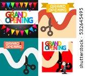 grand opening vector designs set | Shutterstock .eps vector #532645495