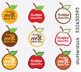 set of certified gluten free... | Shutterstock .eps vector #532650595