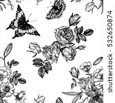 vintage vector floral seamless... | Shutterstock .eps vector #532650874