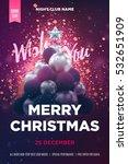 christmas poster or flyer...   Shutterstock .eps vector #532651909