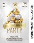 white christmas poster or flyer ... | Shutterstock .eps vector #532651981