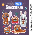 set of christmas stickers with... | Shutterstock .eps vector #532653835