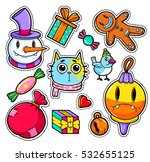 set of merry christmas and... | Shutterstock .eps vector #532655125