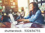 hand control on a laptop...   Shutterstock . vector #532656751