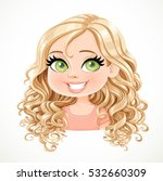 beautiful blond girl with... | Shutterstock .eps vector #532660309