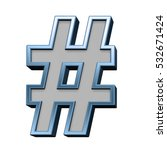 number sign from gray with blue ... | Shutterstock . vector #532671424