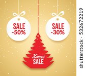 christmas balls sale. special... | Shutterstock .eps vector #532672219
