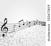 music  background  melody ... | Shutterstock . vector #532672819