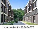 street of a residential... | Shutterstock . vector #532676575