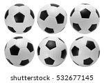 Football. Six Soccer Balls...