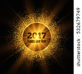 happy new year 2017. gold... | Shutterstock .eps vector #532679749