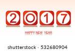happy new year 2017 text design ...