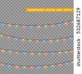 christmas lights isolated... | Shutterstock .eps vector #532687129