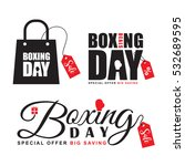 set of boxing day sale symbol... | Shutterstock .eps vector #532689595