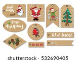 new year and christmas gift... | Shutterstock . vector #532690405