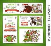 set of corporate christmas... | Shutterstock .eps vector #532692949