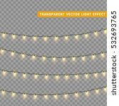 christmas lights isolated... | Shutterstock .eps vector #532693765