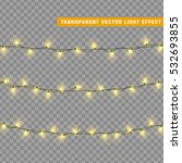 christmas lights isolated... | Shutterstock .eps vector #532693855