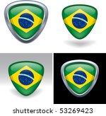 brazilian flag crest | Shutterstock .eps vector #53269423