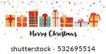 christmas gift boxes horizontal ... | Shutterstock .eps vector #532695514