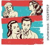 vintage vector illustration of... | Shutterstock .eps vector #532695919