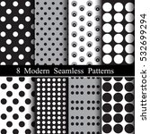set of seamless polka dot... | Shutterstock .eps vector #532699294