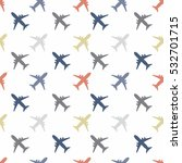 retro kids seamless pattern... | Shutterstock .eps vector #532701715