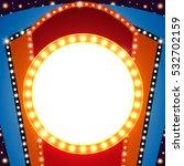 retro stage shining banner...   Shutterstock .eps vector #532702159