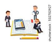 little business accountants... | Shutterstock .eps vector #532702927