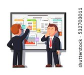 business consultant showing and ...   Shutterstock .eps vector #532703011