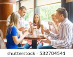 happy friends hanging out in... | Shutterstock . vector #532704541