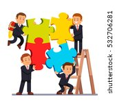 company business team joining... | Shutterstock .eps vector #532706281