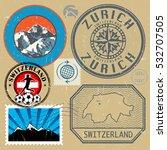 switzerland travel or adventure ... | Shutterstock .eps vector #532707505