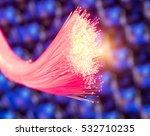 optical fibres dinamic flying... | Shutterstock . vector #532710235