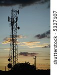 communications tower and power... | Shutterstock . vector #5327107
