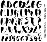 hand drawn font made by dry... | Shutterstock .eps vector #532713979