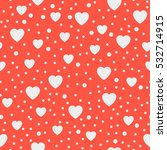 seamless background hearts.... | Shutterstock . vector #532714915