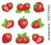 strawberry fruit icon...   Shutterstock .eps vector #532715461