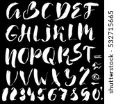 hand drawn font made by dry...   Shutterstock .eps vector #532715665