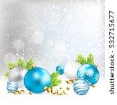 christmas blue  silver  white... | Shutterstock .eps vector #532715677