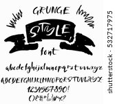 hand drawn font made by dry...   Shutterstock .eps vector #532717975