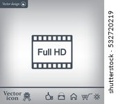 full hd video icon  vector... | Shutterstock .eps vector #532720219