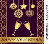 """greeting card """"happy new year  """"...   Shutterstock .eps vector #532720945"""